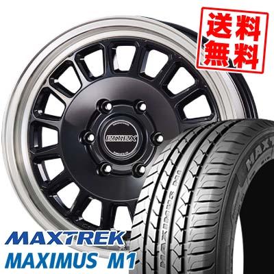 215/60R17C 109/107Q MAXTREK マックストレック MAXIMUS M1 マキシマス エムワン ESSEX ENCD 1PIECE エセックス ENCD 1ピース サマータイヤホイール4本セット for 200系ハイエース【取付対象】