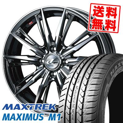 195/55R16 87V MAXTREK マックストレック MAXIMUS M1 マキシマス エムワン WEDS LEONIS GX ウェッズ レオニス GX サマータイヤホイール4本セット