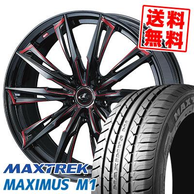 245/35R19 93W XL MAXTREK マックストレック MAXIMUS M1 マキシマス エムワン WEDS LEONIS GX ウェッズ レオニス GX サマータイヤホイール4本セット