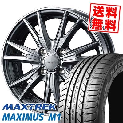 155/65R14 75T MAXTREK マックストレック MAXIMUS M1 マキシマス エムワン VELVA KEVIN ヴェルヴァ ケヴィン サマータイヤホイール4本セット