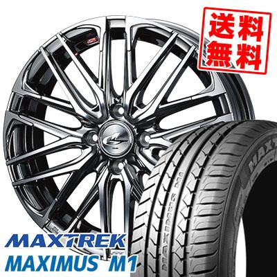 215/40R17 87W XL MAXTREK マックストレック MAXIMUS M1 マキシマス エムワン WEDS LEONIS SK ウェッズ レオニスSK サマータイヤホイール4本セット