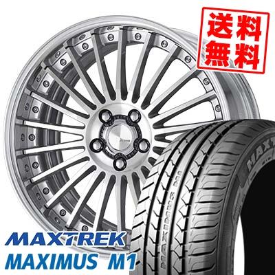 245/35R19 93W XL MAXTREK マックストレック MAXIMUS M1 マキシマス エムワン WORK Lanvec LF1 Odisk ワーク ランべック LF1 Oディスク サマータイヤホイール4本セット