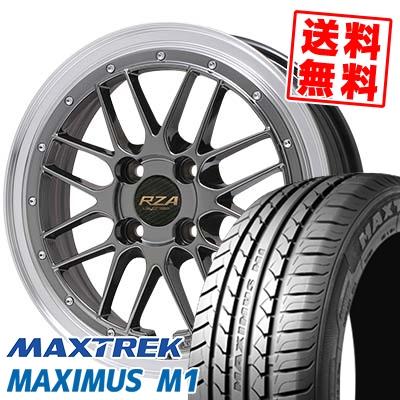 195/55R16 87V MAXTREK マックストレック MAXIMUS M1 マキシマス エムワン Leycross REZERVA レイクロス レゼルヴァ サマータイヤホイール4本セット