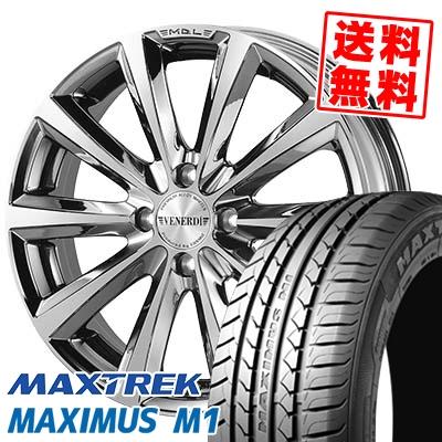 195/55R16 87V MAXTREK マックストレック MAXIMUS M1 マキシマス エムワン VENERDi MADELENA ヴェネルディ マデリーナ サマータイヤホイール4本セット