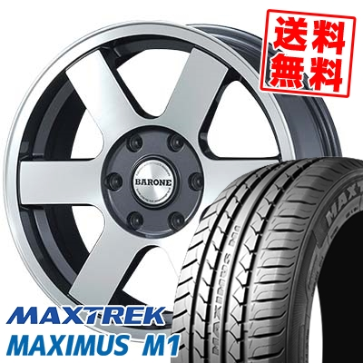 215/60R17C 109/107Q MAXTREK マックストレック MAXIMUS M1 マキシマス エムワン FABULOUS BARONE MC-6 ファブレスヴァローネ MC6 サマータイヤホイール4本セット for 200系ハイエース【取付対象】
