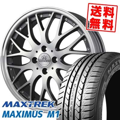215/40R17 87W XL MAXTREK マックストレック MAXIMUS M1 マキシマス エムワン BADX LOXARNY MULTIFORCHETTA バドックス ロクサーニ マルチフォルケッタ サマータイヤホイール4本セット