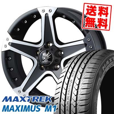 195/60R16 89H MAXTREK マックストレック MAXIMUS M1 マキシマス エムワン MUD VANCE01 マッドヴァンス01 サマータイヤホイール4本セット