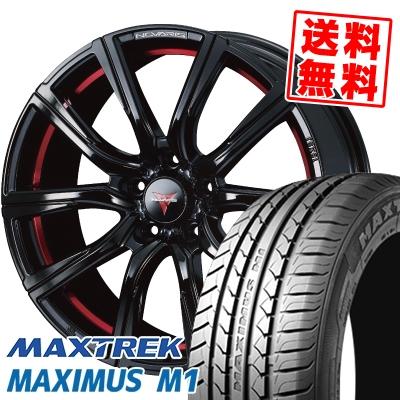225/50R17 98W XL MAXTREK マックストレック MAXIMUS M1 マキシマス エムワン WEDS NOVARIS ROHGUE CB ウェッズ ノヴァリス ローグ CB サマータイヤホイール4本セット