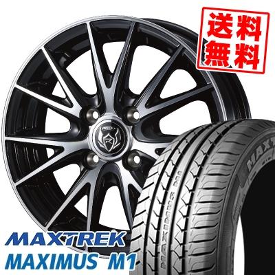 155/65R14 75T MAXTREK マックストレック MAXIMUS M1 マキシマス エムワン WEDS RIZLEY VS ウェッズ ライツレー VS サマータイヤホイール4本セット