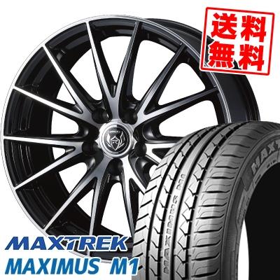 215/50R17 95V XL MAXTREK マックストレック MAXIMUS M1 マキシマス エムワン WEDS RIZLEY VS ウェッズ ライツレー VS サマータイヤホイール4本セット