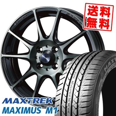 195/55R16 87V MAXTREK マックストレック MAXIMUS M1 マキシマス エムワン WedsSport SA-25R ウェッズスポーツ SA-25R サマータイヤホイール4本セット