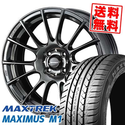 195/55R16 87V MAXTREK マックストレック MAXIMUS M1 マキシマス エムワン WedsSport SA-72R ウェッズスポーツ SA-72R サマータイヤホイール4本セット