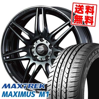 225/60R17 99V MAXTREK マックストレック MAXIMUS M1 マキシマス エムワン wedsSport SA-77R ウェッズスポーツ SA-77R サマータイヤホイール4本セット