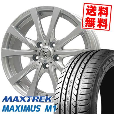 205/60R16 92H MAXTREK マックストレック MAXIMUS M1 マキシマス エムワン TRG-SILBAHN TRG シルバーン サマータイヤホイール4本セット