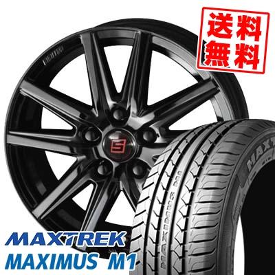 225/60R17 99V MAXTREK マックストレック MAXIMUS M1 マキシマス エムワン SEIN SS BLACK EDITION ザイン エスエス ブラックエディション サマータイヤホイール4本セット