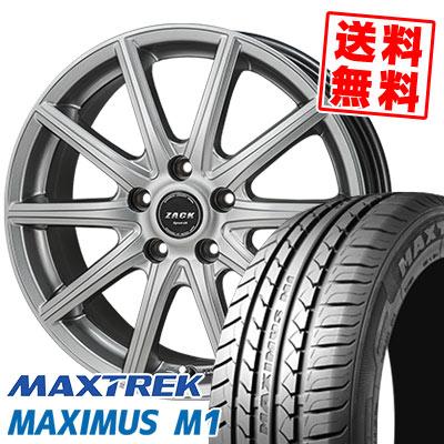195/60R16 89H MAXTREK マックストレック MAXIMUS M1 マキシマス エムワン ZACK SPORT-01 ザック シュポルト01 サマータイヤホイール4本セット
