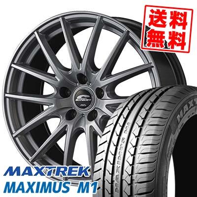 195/60R16 89H MAXTREK マックストレック MAXIMUS M1 マキシマス エムワン SCHNEIDER SQ27 シュナイダー SQ27 サマータイヤホイール4本セット