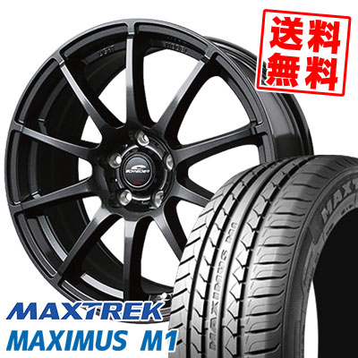 245/40R18 97W XL MAXTREK マックストレック MAXIMUS M1 マキシマス エムワン SCHNEDER StaG シュナイダー スタッグ サマータイヤホイール4本セット