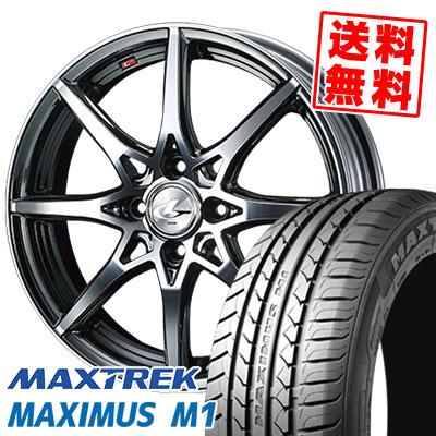 215/40R17 87W XL MAXTREK マックストレック MAXIMUS M1 マキシマス エムワン weds LEONIS SV ウェッズ レオニス SV サマータイヤホイール4本セット