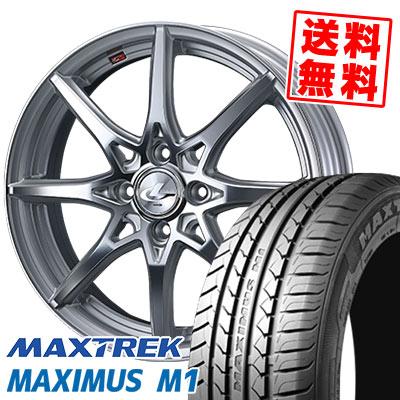 195/55R16 87V MAXTREK マックストレック MAXIMUS M1 マキシマス エムワン weds LEONIS SV ウェッズ レオニス SV サマータイヤホイール4本セット