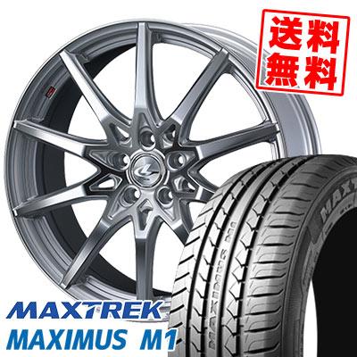 215/50R17 95V XL MAXTREK マックストレック MAXIMUS M1 マキシマス エムワン weds LEONIS SV ウェッズ レオニス SV サマータイヤホイール4本セット