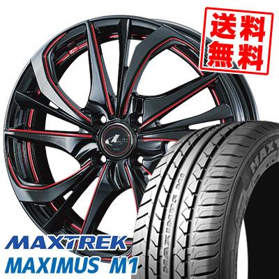 215/40R17 87W XL MAXTREK マックストレック MAXIMUS M1 マキシマス エムワン weds LEONIS TE ウェッズ レオニス TE サマータイヤホイール4本セット
