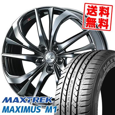 225/60R17 99V MAXTREK マックストレック MAXIMUS M1 マキシマス エムワン weds LEONIS TE ウェッズ レオニス TE サマータイヤホイール4本セット