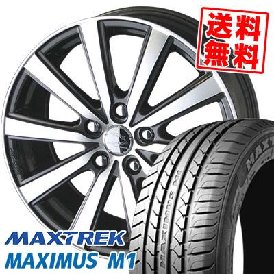 195/60R16 89H MAXTREK マックストレック MAXIMUS M1 マキシマス エムワン SMACK VIR スマック VI-R サマータイヤホイール4本セット