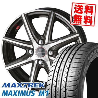 155/65R14 75T MAXTREK マックストレック MAXIMUS M1 マキシマス エムワン SMACK PRIME SERIES VANISH スマック プライムシリーズ ヴァニッシュ サマータイヤホイール4本セット