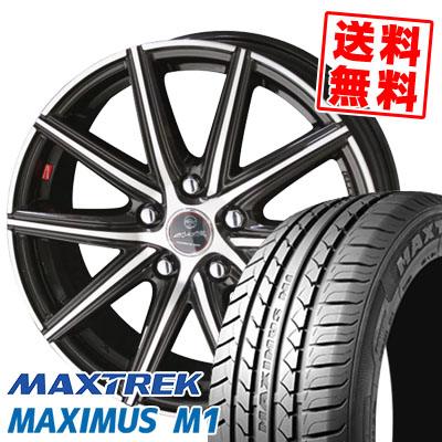 195/60R16 89H MAXTREK マックストレック MAXIMUS M1 マキシマス エムワン SMACK PRIME SERIES VANISH スマック プライムシリーズ ヴァニッシュ サマータイヤホイール4本セット