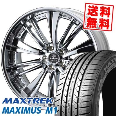 235/35R19 91W XL MAXTREK マックストレック MAXIMUS M1 マキシマス エムワン weds Kranze Vorteil ウェッズ クレンツェ ヴォルテイル サマータイヤホイール4本セット