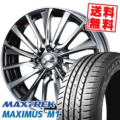 215/40R17 87W XL MAXTREK マックストレック MAXIMUS M1 マキシマス エムワン weds LEONIS VT ウエッズ レオニス VT サマータイヤホイール4本セット
