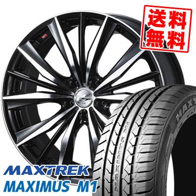 245/40R18 97W XL MAXTREK マックストレック MAXIMUS M1 マキシマス エムワン weds LEONIS VX ウエッズ レオニス VX サマータイヤホイール4本セット