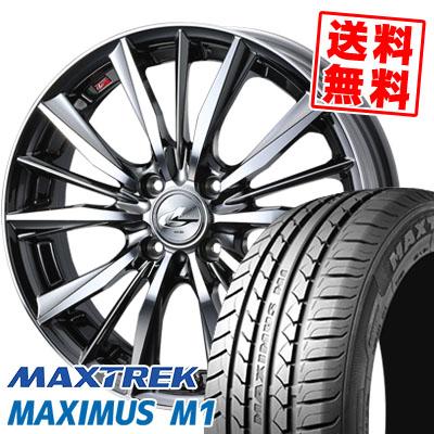 215/40R17 87W XL MAXTREK マックストレック MAXIMUS M1 マキシマス エムワン weds LEONIS VX ウエッズ レオニス VX サマータイヤホイール4本セット