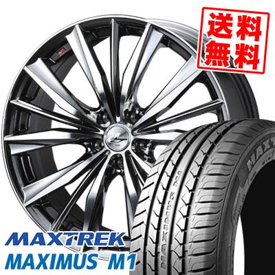 225/60R17 99V MAXTREK マックストレック MAXIMUS M1 マキシマス エムワン weds LEONIS VX ウエッズ レオニス VX サマータイヤホイール4本セット