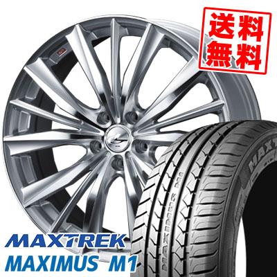 205/55R16 94V XL MAXTREK マックストレック MAXIMUS M1 マキシマス エムワン weds LEONIS VX ウエッズ レオニス VX サマータイヤホイール4本セット