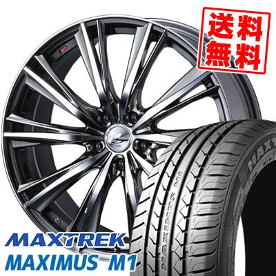 225/60R17 99V MAXTREK マックストレック MAXIMUS M1 マキシマス エムワン weds LEONIS WX ウエッズ レオニス WX サマータイヤホイール4本セット
