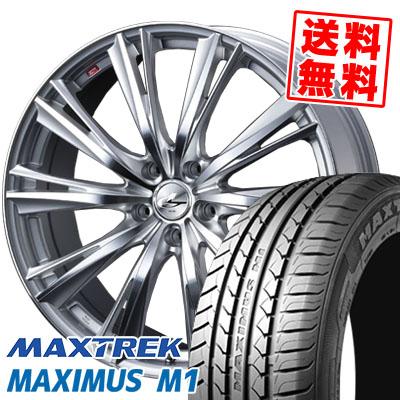235/40R18 95W XL MAXTREK マックストレック MAXIMUS M1 マキシマス エムワン weds LEONIS WX ウエッズ レオニス WX サマータイヤホイール4本セット