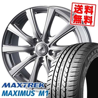 195/60R16 89H MAXTREK マックストレック MAXIMUS M1 マキシマス エムワン AZ sports YL-10 AZスポーツ YL-10 サマータイヤホイール4本セット【取付対象】