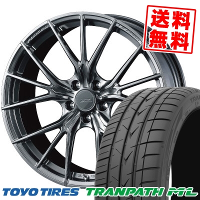225/40R18 92W XL TOYO TIRES トーヨー タイヤ TRANPATH ML トランパスML WEDS F ZERO FZ-1 ウェッズ エフゼロ FZ-1 サマータイヤホイール4本セット