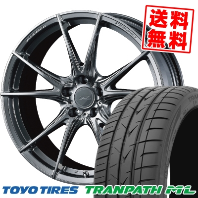 225/40R18 92W XL TOYO TIRES トーヨー タイヤ TRANPATH ML トランパスML WEDS F ZERO FZ-2 ウェッズ エフゼロ FZ-2 サマータイヤホイール4本セット