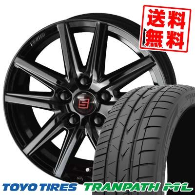 225/50R18 95V TOYO TIRES トーヨー タイヤ TRANPATH ML トランパスML SEIN SS BLACK EDITION ザイン エスエス ブラックエディション サマータイヤホイール4本セット