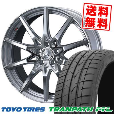 225/40R18 92W XL TOYO TIRES トーヨー タイヤ TRANPATH ML トランパスML weds LEONIS SV ウェッズ レオニス SV サマータイヤホイール4本セット