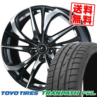 215/60R17 96H TOYO TIRES トーヨー タイヤ TRANPATH ML トランパスML weds LEONIS TE ウェッズ レオニス TE サマータイヤホイール4本セット