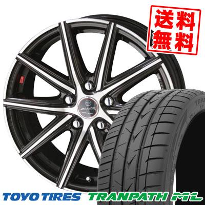 205/65R16 95H TOYO TIRES トーヨー タイヤ TRANPATH ML トランパスML SMACK PRIME SERIES VANISH スマック プライムシリーズ ヴァニッシュ サマータイヤホイール4本セット