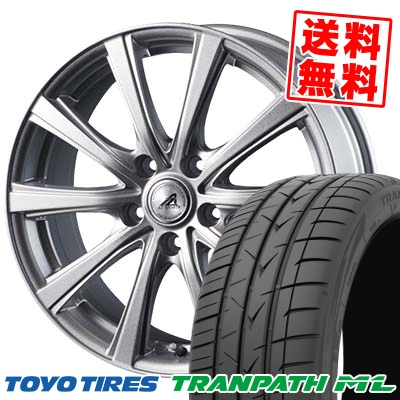 205/65R16 95H TOYO TIRES トーヨー タイヤ TRANPATH ML トランパスML AZ sports YL-10 AZスポーツ YL-10 サマータイヤホイール4本セット