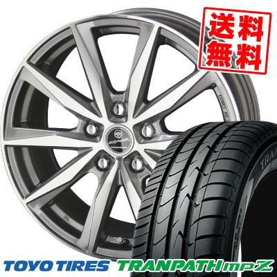 215/45R18 93W TOYO TIRES トーヨー タイヤ TRANPATH mpZ トランパス mpZ SMACK BASALT スマック バサルト サマータイヤホイール4本セット