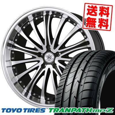 215/45R18 93W TOYO TIRES トーヨー タイヤ TRANPATH mpZ トランパスmpZ BADX バッドクス ロクサーニ EX バイロンアベンジャー サマータイヤホイール4本セット