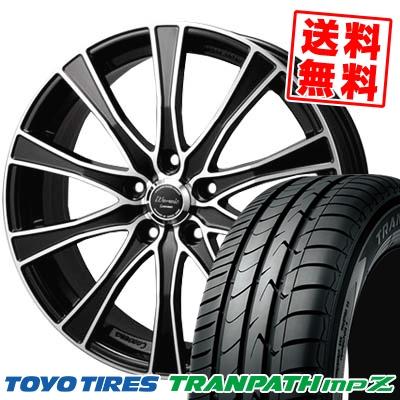 215/45R17 91W TOYO TIRES トーヨー タイヤ TRANPATH mpZ トランパス mpZ Warwic Carozza ワーウィック カロッツァ サマータイヤホイール4本セット