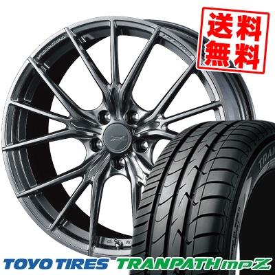 215/45R18 93W TOYO TIRES トーヨー タイヤ TRANPATH mpZ トランパス mpZ WEDS F ZERO FZ-1 ウェッズ エフゼロ FZ-1 サマータイヤホイール4本セット